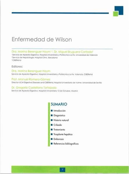 informe enfermedad de wilson