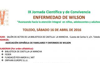Jornadas Científicas Enfermedad de Wilson Abril 2016